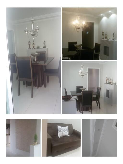 Sala de refeições e Sala de estar