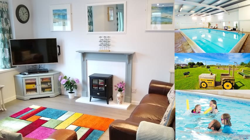 Dog friendly Cottage: Indoor Pool, near beaches