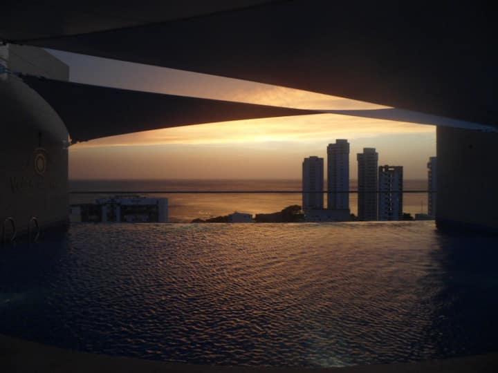 Espectacular Apartaestudio Loft Rodadero Sur