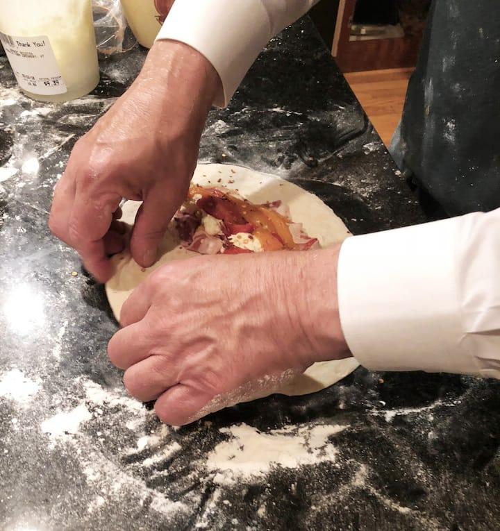 Chef demonstrates