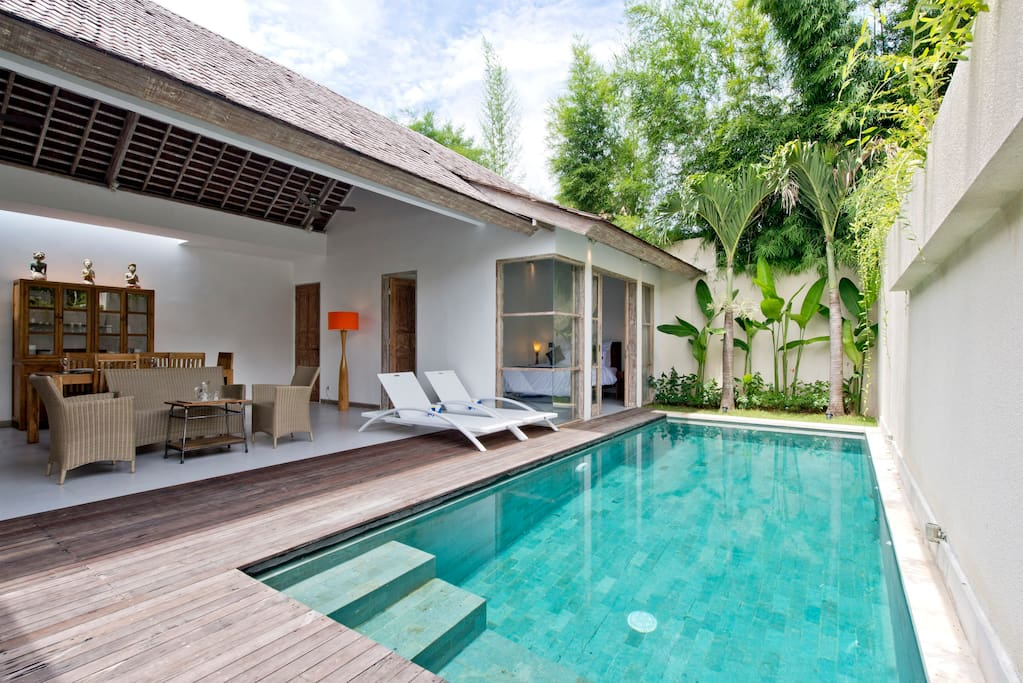 Pool Front View Two Bedroom Villa