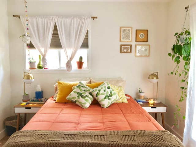 Bright and Comfy Room in Mid Century Modern House