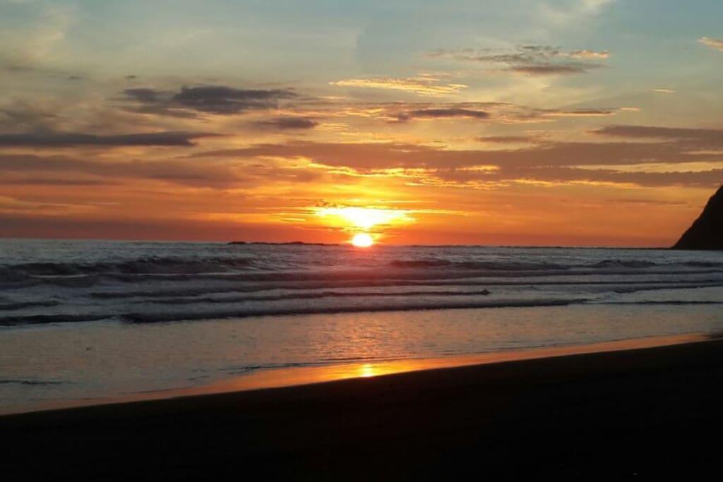 Sunset at Carrillo beach