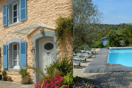 Paimpol, trad. stone-house, heated pool - Plourivo