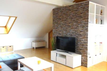 Moderne Dachterrassenwohnung mit tollem Ausblick - Gerzen - Apartment