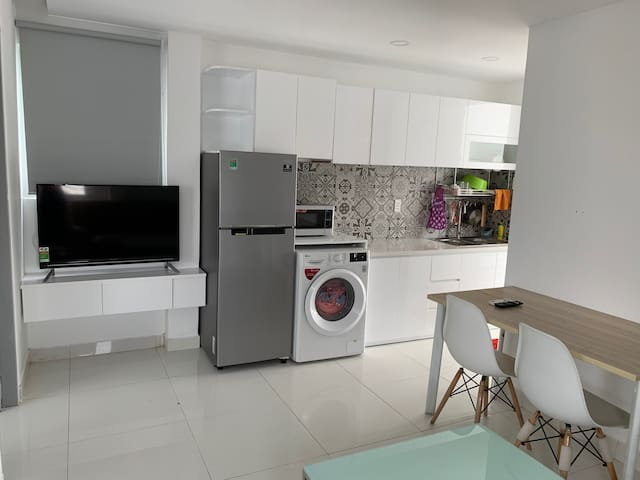New one BR serviced apt with washer near dist. 1