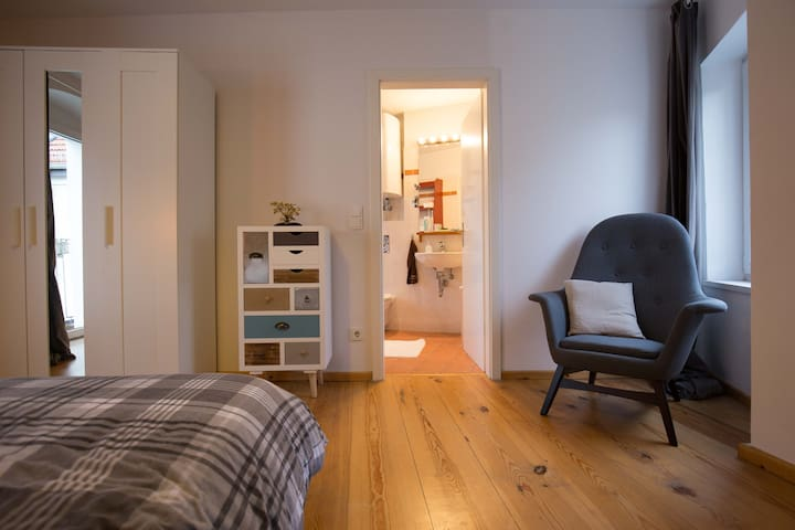 Bedroom with private ensuite bathroom