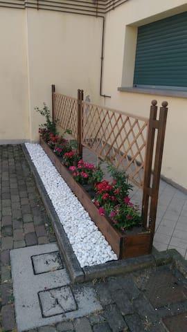 esterno con parcheggio affiancato