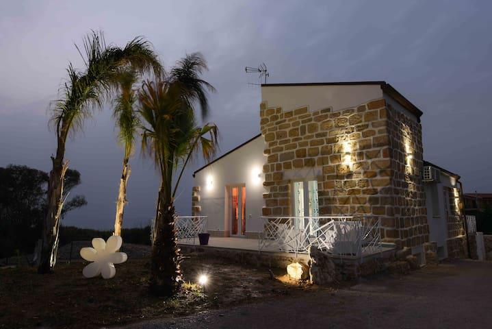 Appartamento 4 posti in villa a 100 m dal mare - Trappeto - Pis