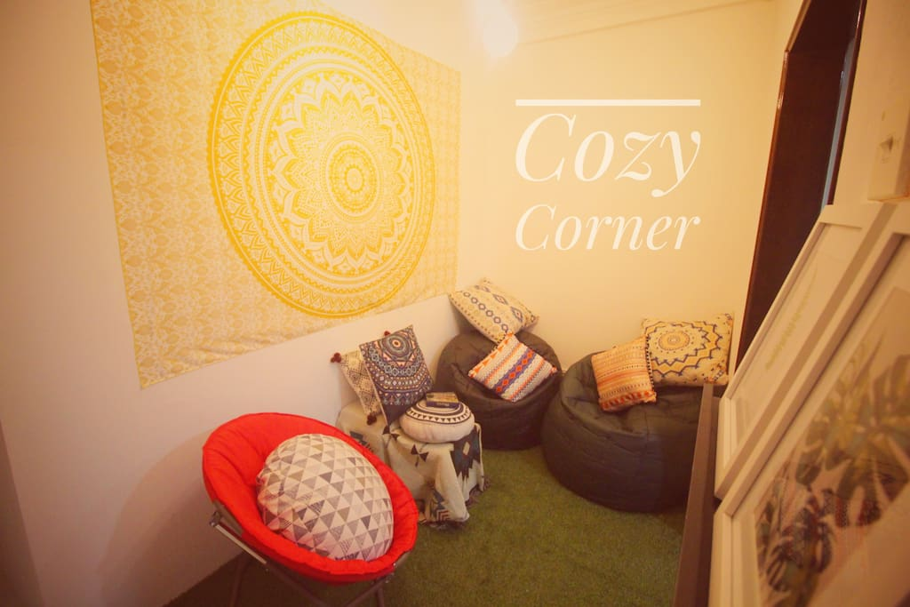 Cozy Corner - Our homemade area specially for our guest!