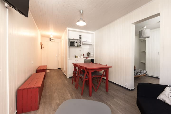 2 pièces/5 personnes; plein centre avec garage. - Val-d'Isère