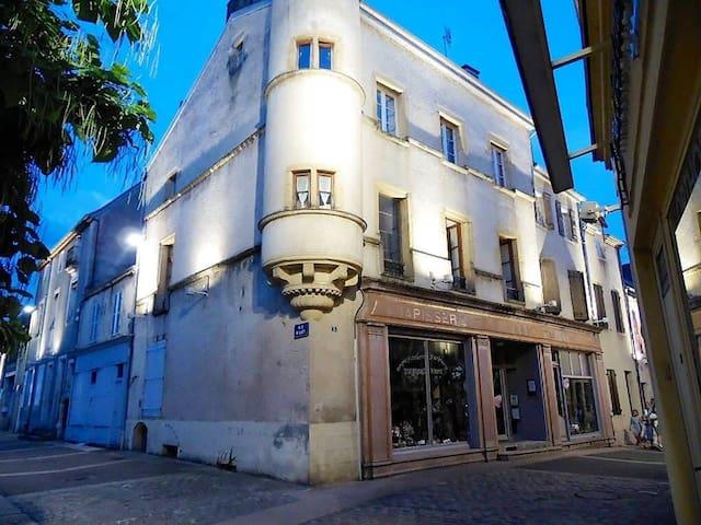 Studio duplex, centre ville - vue sur la Basilique