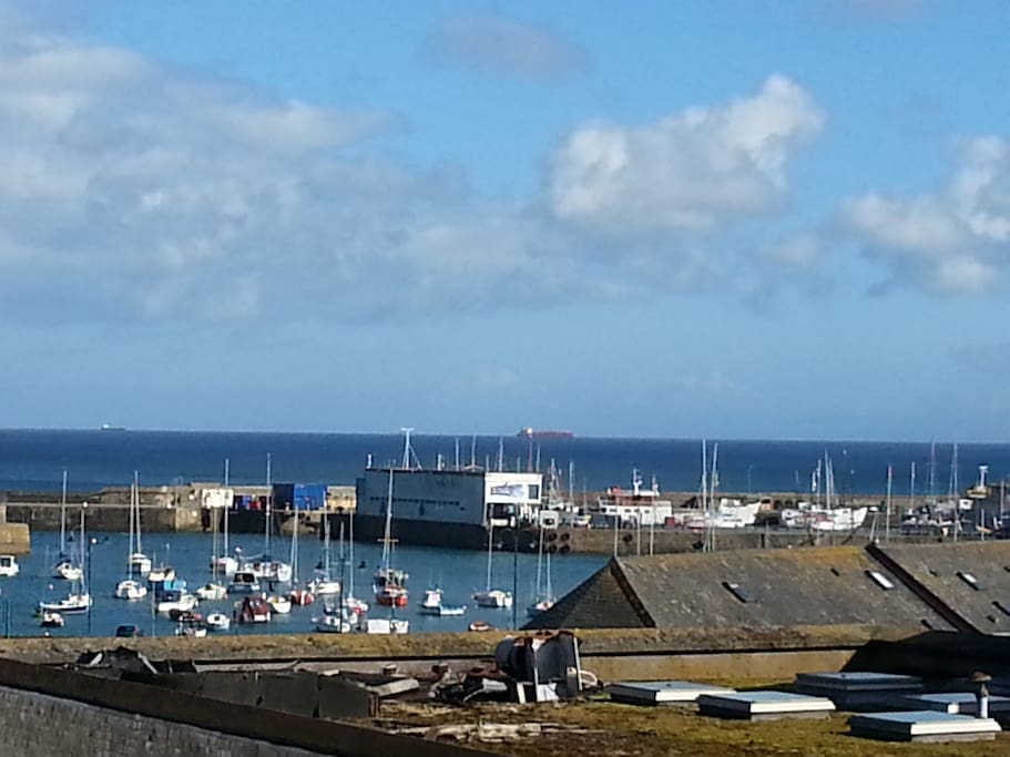 Penzance harbour from upstairs lounge