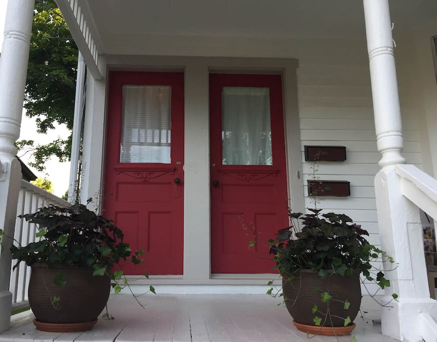 front doors of the house