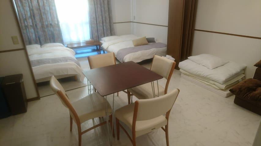 LF45 Cozy 2 bedroom 450m/6min to Peace Park Miyaji