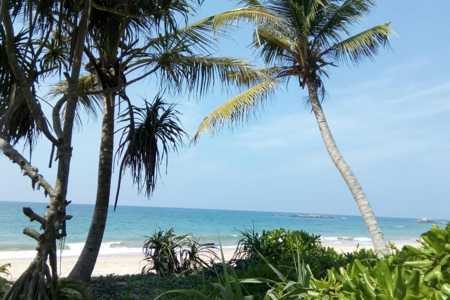 View from beach hut property, step directly into the pristine Indian ocean