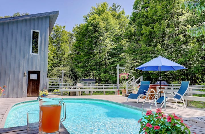 Secluded 7acres, Saline Heated Pool, Spa, Stream !