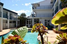 Exceptionally popular sheltered family pool at West Beach Lagoon.