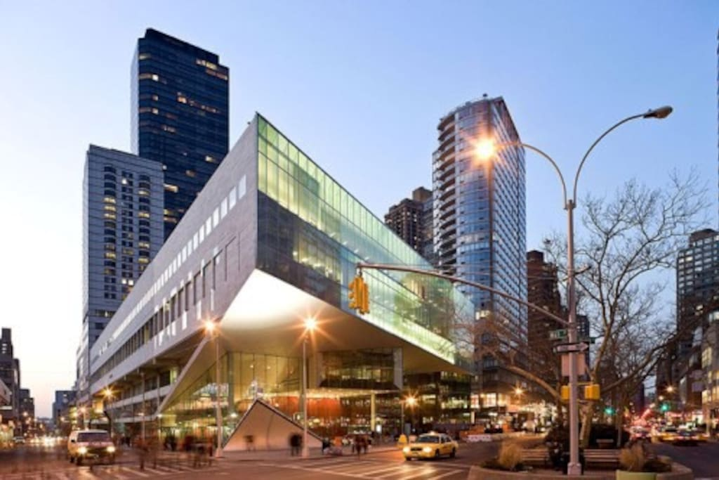 We are located right  behind of this beautiful Juilliard School :)