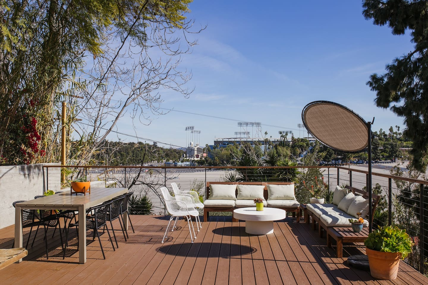 Massive deck offering tranquility, good times and views!
