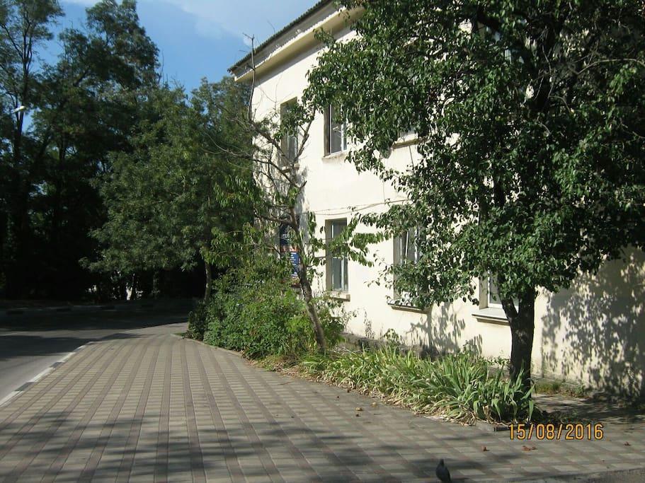 вид на дом снаружи погруженный в зелень