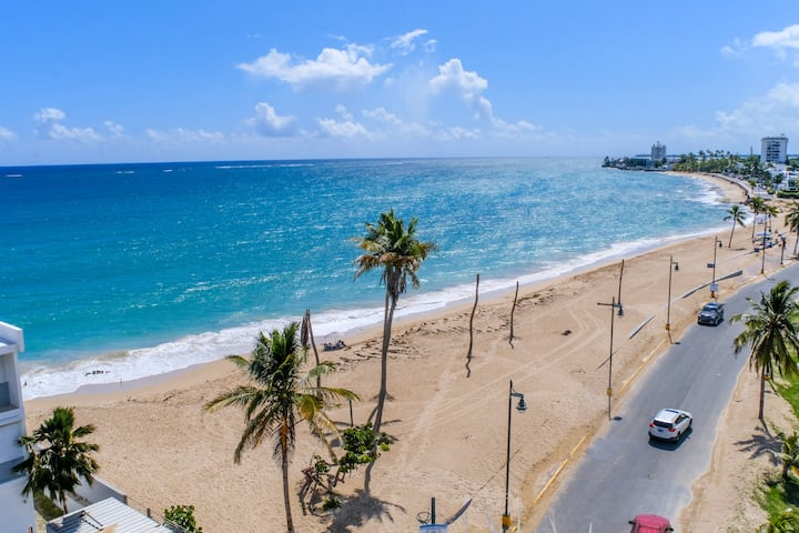 ⭐️AMAZING BEACHFRONT 2BR APT SJU PRO-SANITIZED⭐️