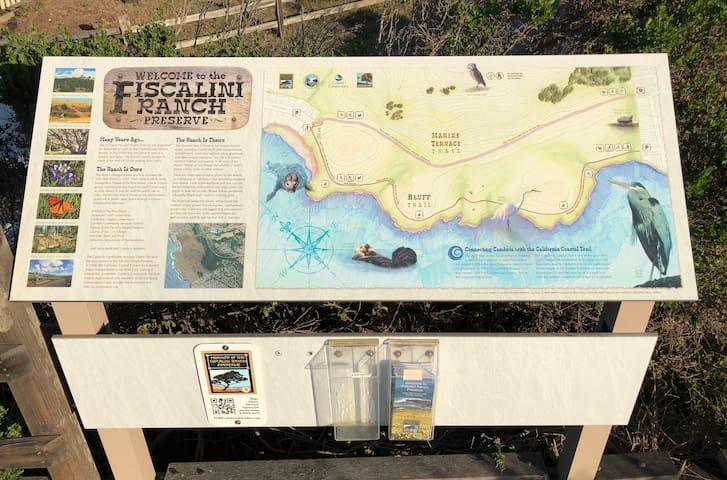 Fiscalini Ranch Preserve Map- Hiking trails w/ ocean views
