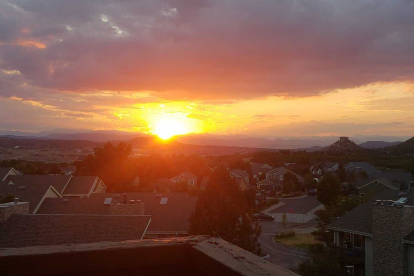 Everyday you will experience an amazing sunset as the sun slowly sets over the Great Rockies.