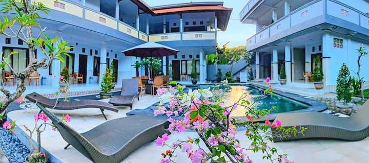 SERANGAN INN MIMBA with Ac and view pool