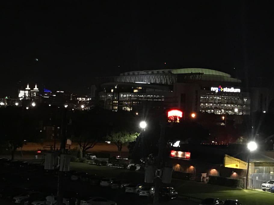 View from Apartment (Reliant Stadium)