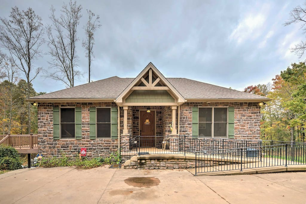 Enjoy 33 acres of wooded views surrounding the home.