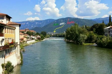 Charming apt with patio in peaceful hill country - Pove del Grappa - Wohnung