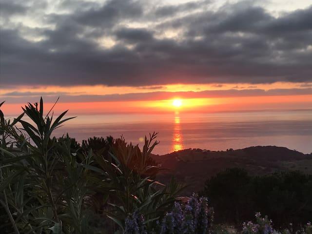 Ci Campemu : Chalet vue sur la mer
