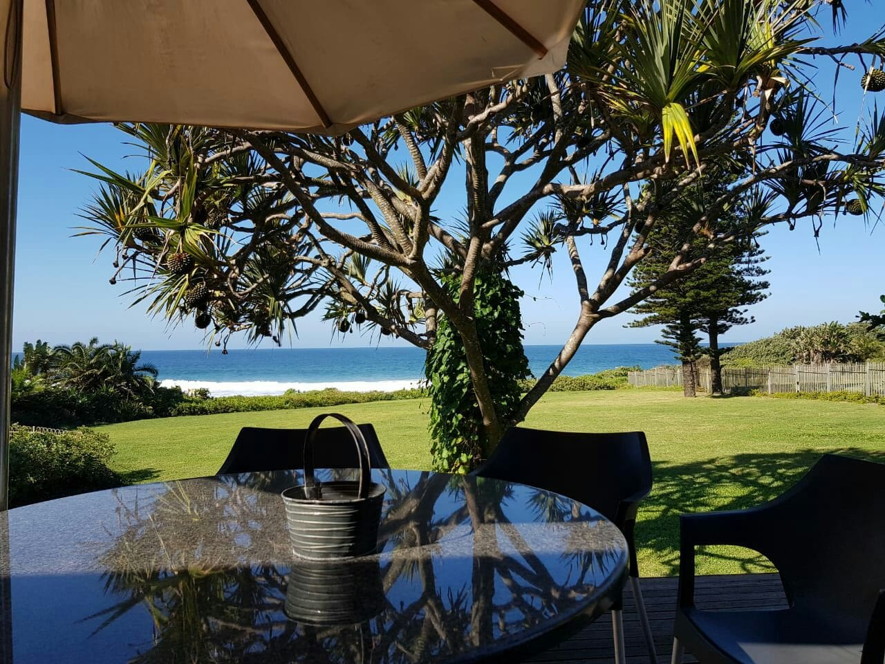 The view from the front verandah