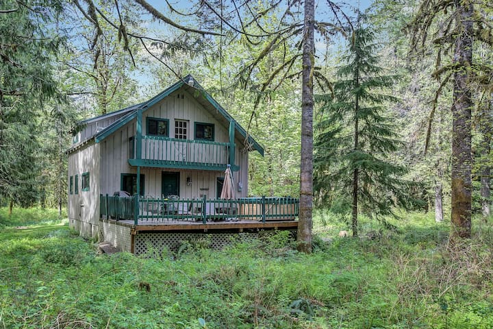 Family/pet friendly cabin, Salmon River,hot tub