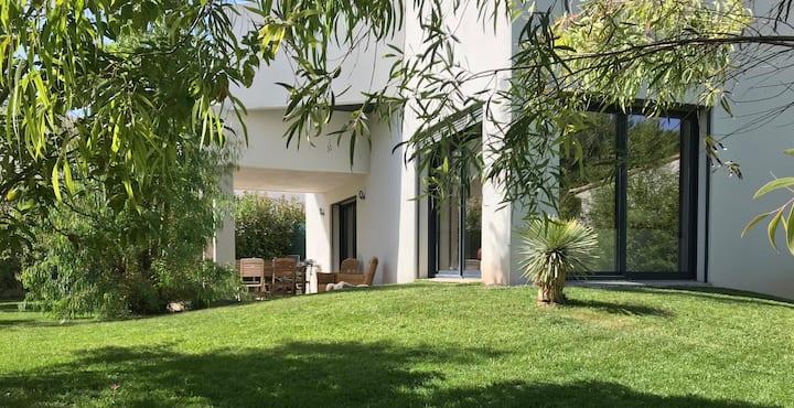 Villa 100m2 CAP D'AGDE 100mPLAGE confort+gd jardin