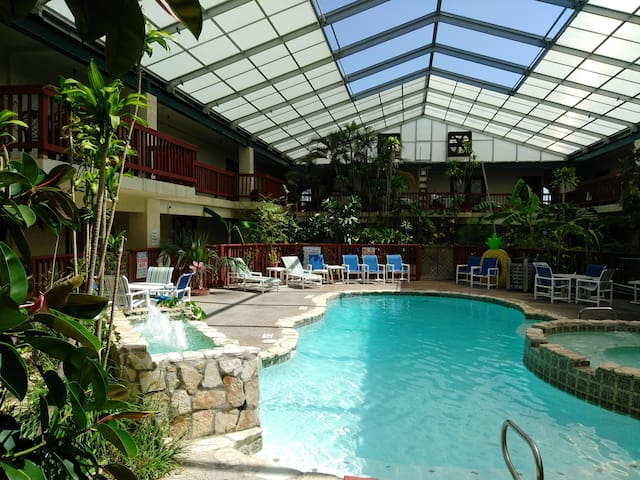 #106 Studio with Heated Pool & Hot Tub near Beach!
