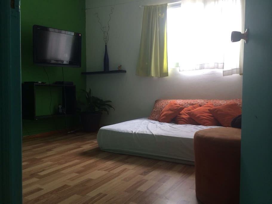 Private room double bed , tv