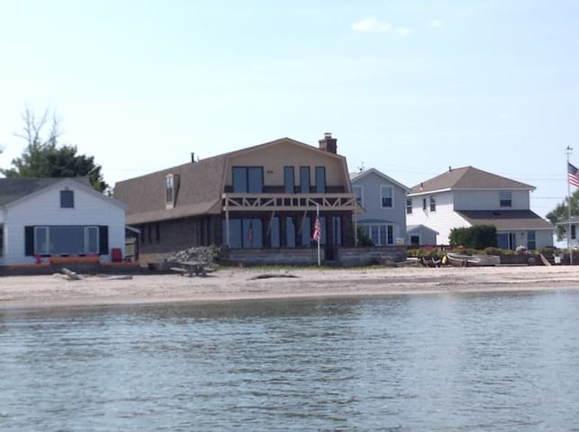 Brick Beach House on Lake Ontario