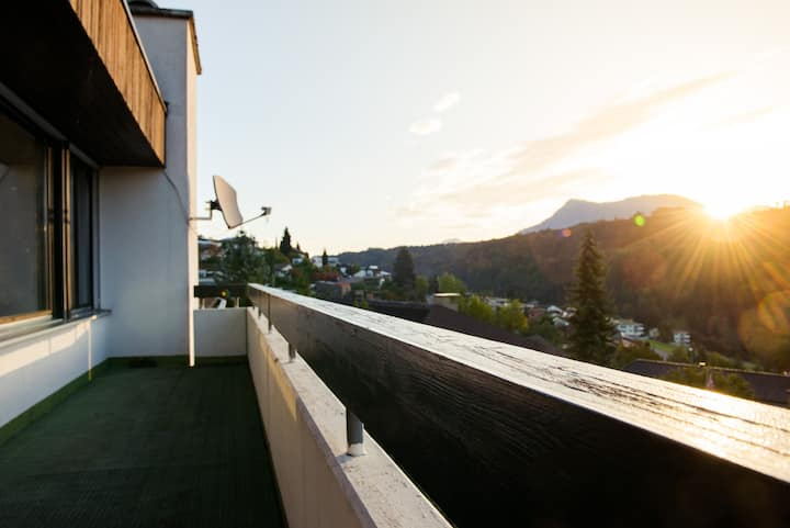 Room with private balcony, view to Rigi, Pilatus.