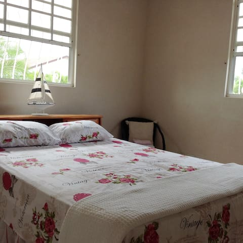Bedroom 1 with Queen  size double bed and ensuite bathroom