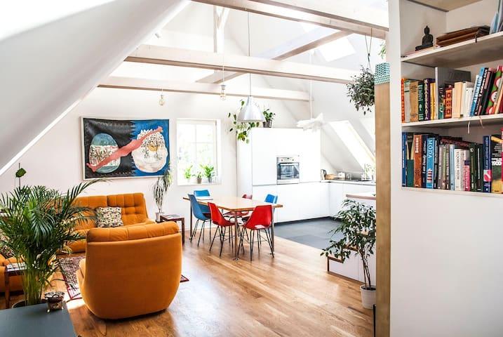 Artist's loft residence / near Metro and Airport - Prague - Loft