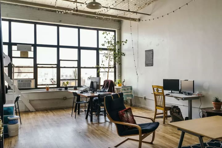 We have space to work and play, a handful of us often work from home.