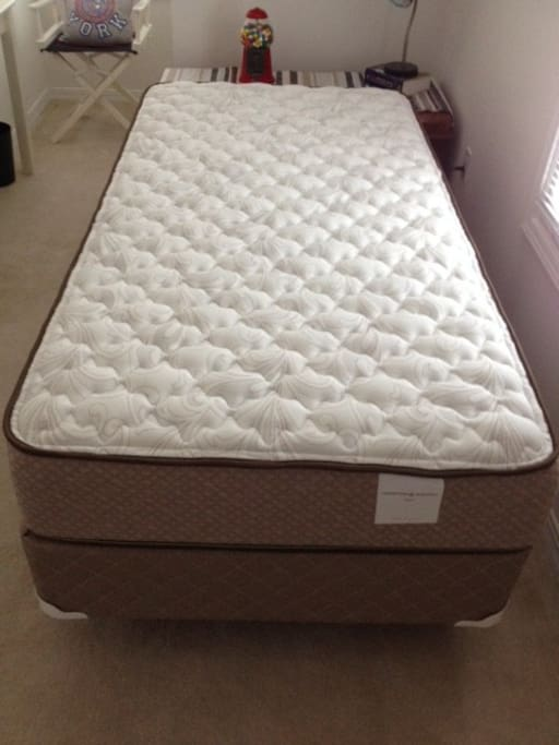 My NYC Room - brand new mattress and box spring.