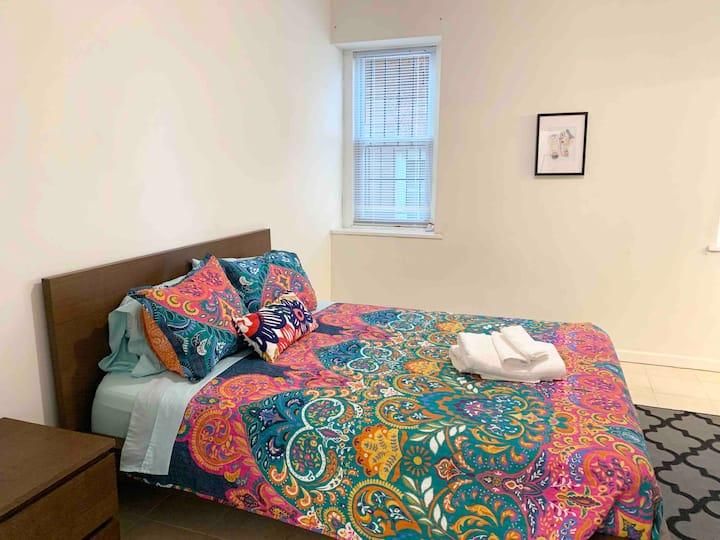 1st floor master bedroom w/private bath, safe area