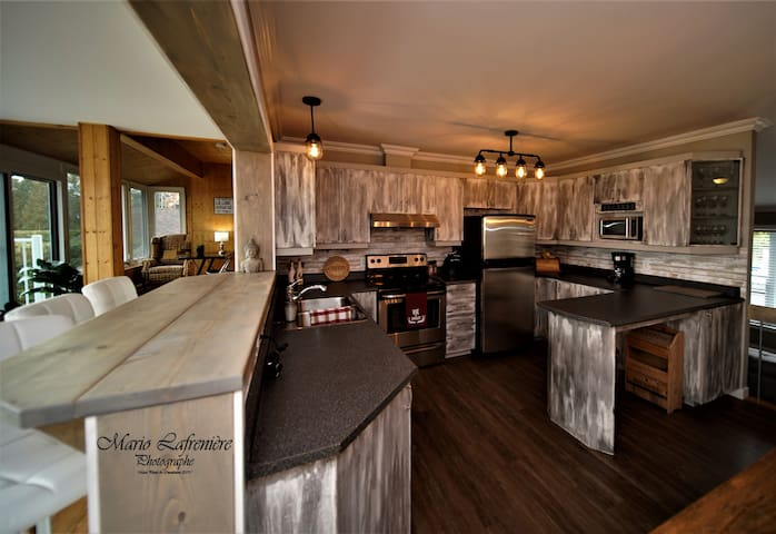 All equipped kitchen for 14 people with stove, dishwasher, refrigerator, microwave