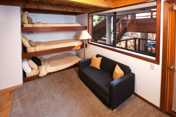 The 'bunk room' with access to the bottom deck!