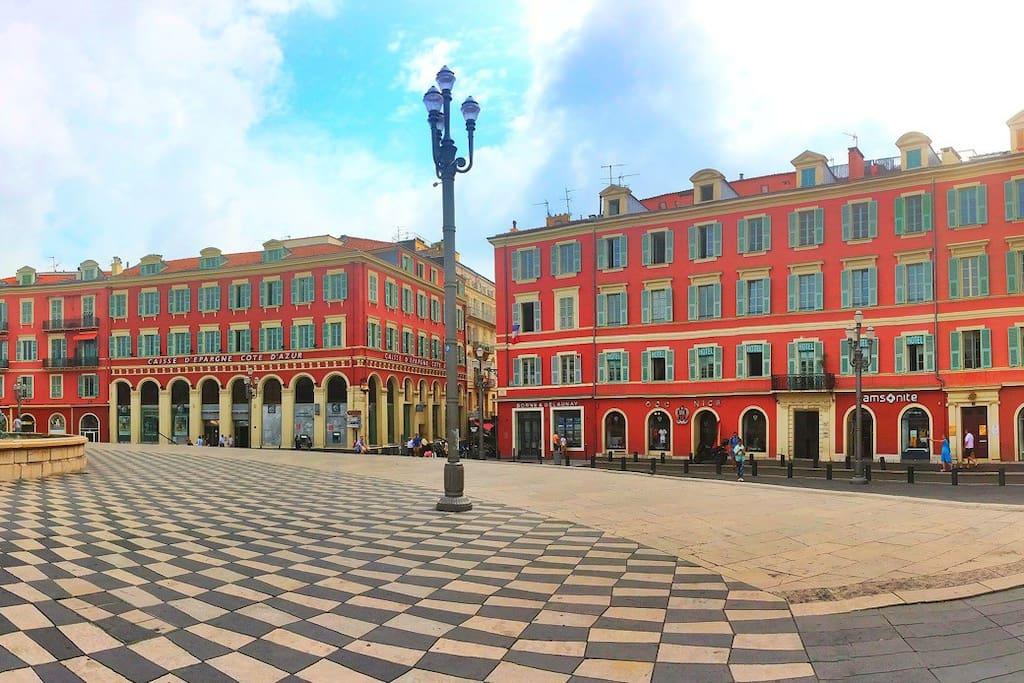 Immeuble (droite) de l'appartement