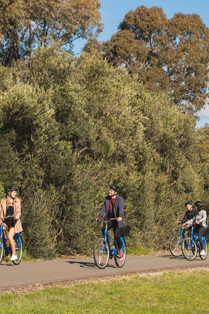 Riding on the Shiraz Rail Trail