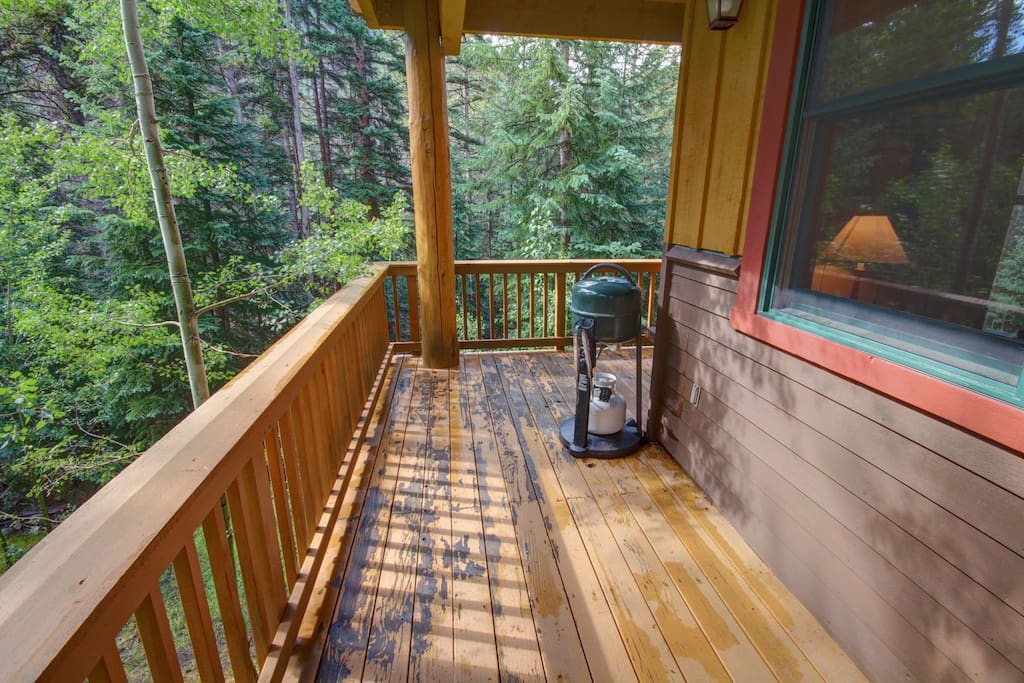 Large deck with private grill